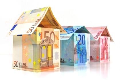 Euro Geld und Haus